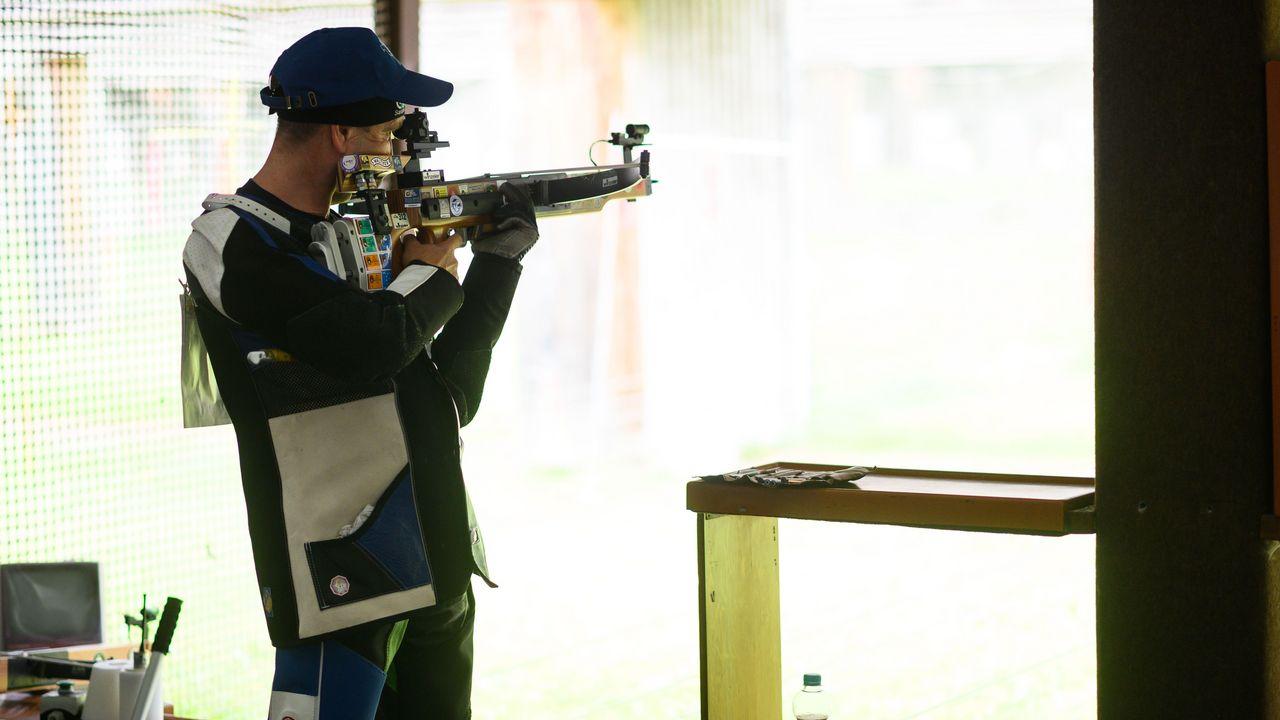 Foto: DSB / Deutscher Meister mit der 30m-Armbrust: Gebhard Fürst.