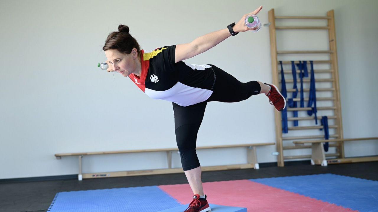 Bild: DSB / Auch Top-Athleten wie Monika Karsch setzen auf Fitnesstraining, um noch ein paar Ringe mehr herauszukitzeln.