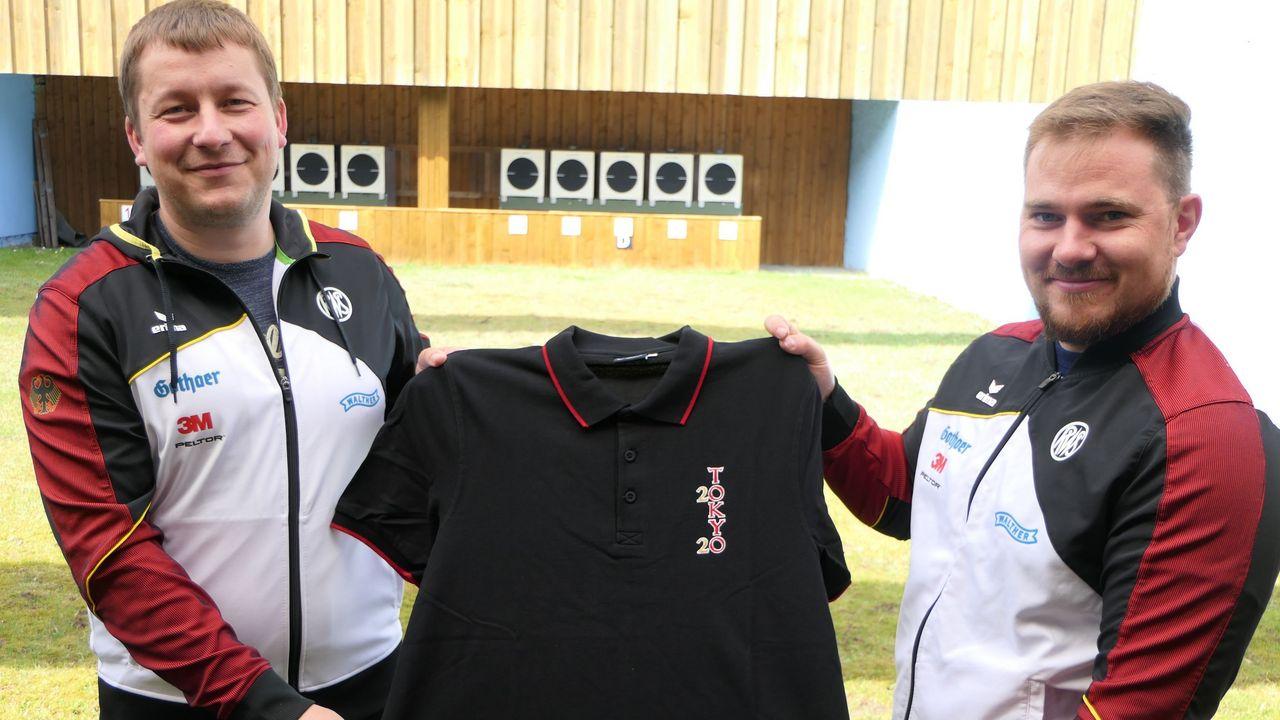 Foto: DSB / Christian Reitz und Oliver Geis werden - vorbehaltlich der Nominierung durch den DOSB - die deutschen Schnellfeuerpistolen-Schützen in Tokio vertreten.