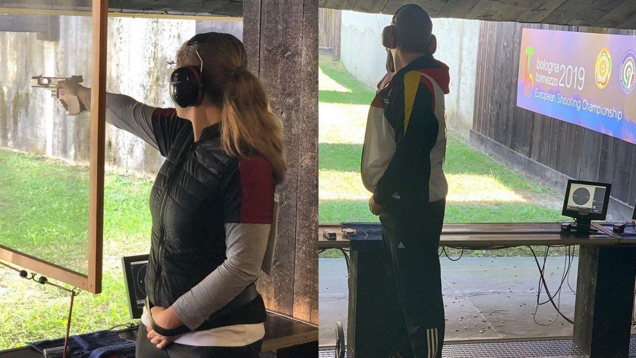 Fotos: DSB / Doreen Vennekamp und Christian Reitz liegen nach der Hälfte des Qualifikations-Wettkampfes aussichtsreich auf Platz zwei.
