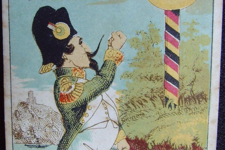 Spielkarte Kreuzbube, 1862