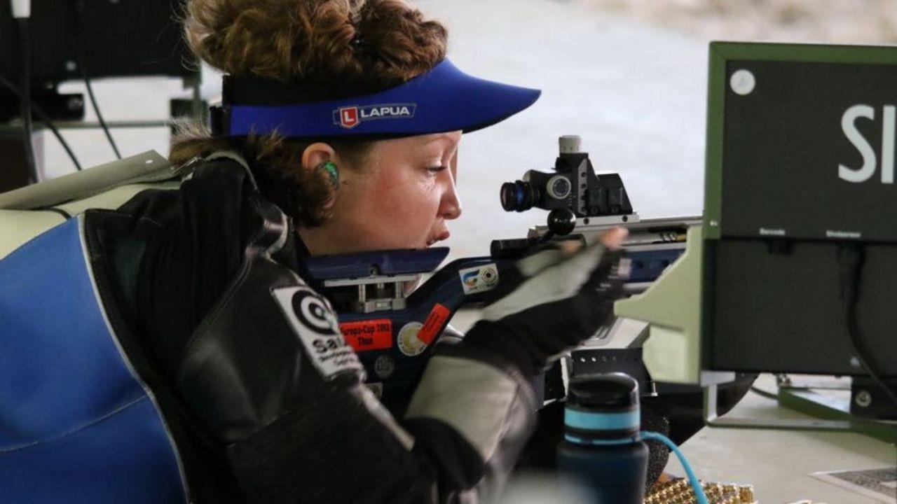 """Foto: ESC / Eva Rösken krönte sich mit ihrem Sieg zur """"Liegend-Queen"""" beim Europacupfinale."""