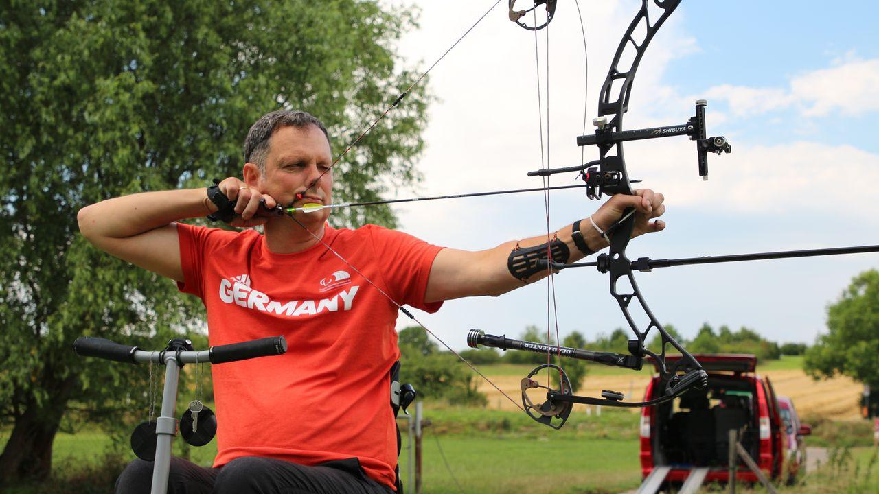 Foto: Werner Pohl / Uwe Herter betreibt seit mittlerweile über 20 Jahren den Bogensport.