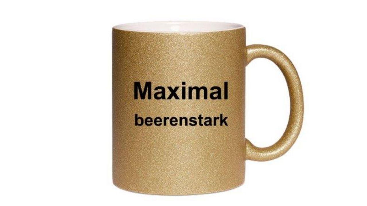 """Foto: DSB-Shop / """"Maximal beerenstark"""", auch diese Tasse aus dem DSB-Shop. Diese wie auch personalisierte Tassen können dort erworben werden."""