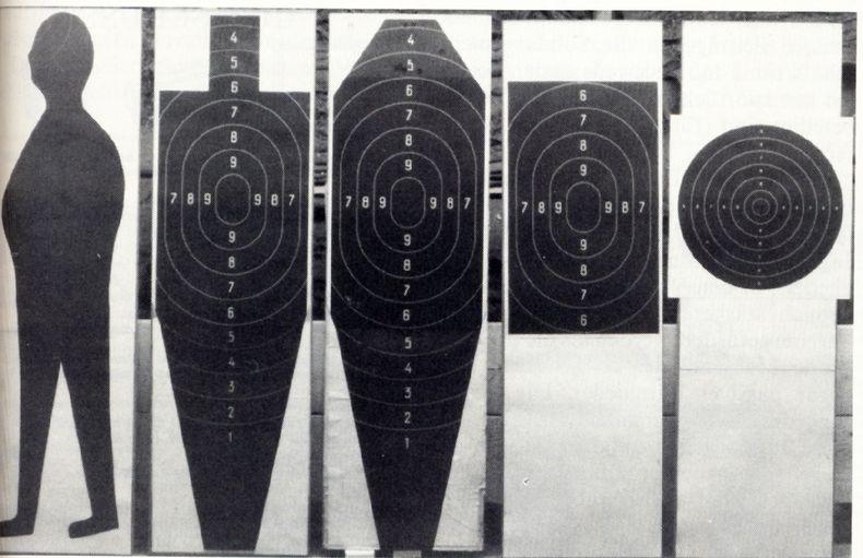Bild: DSB Archiv / Schnellfeuer-Pistolenscheiben in ihrer Entwicklung.
