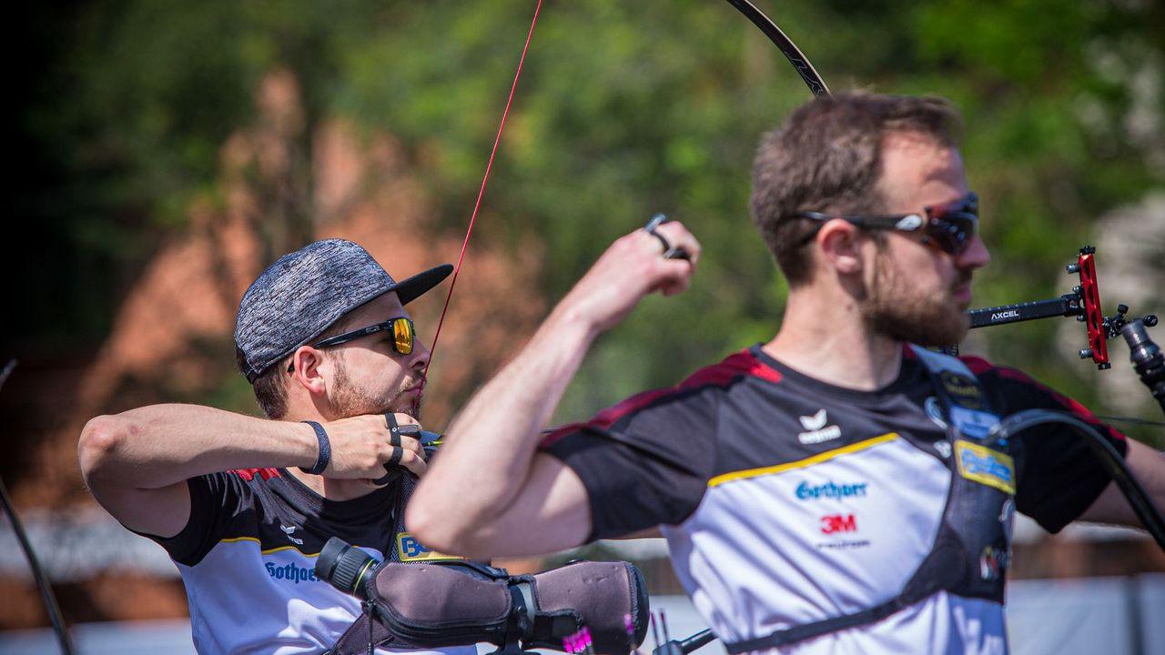 Foto: World Archery / Florian Unruh (vorne) und Maximilian Weckmüller wollen bei der EM in Antalya an die starke Form der vergangenen Auftritte anknüpfen.