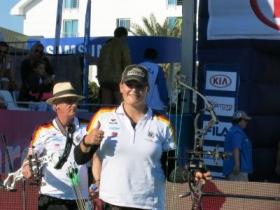 Kristina Berger Weltmeisterin mit dem Compoundbogen