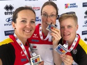 Weltcup Antalya: Recurverinnen gewinnen Silber